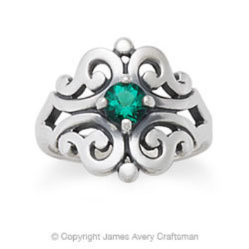 Spanish Lace Ring with Emerald from James Avery