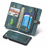 Multifunctional 3 in 1 Wallet Phone Case for iPhone 7,  Genuine Leather Money Purse Cards Holder Phone stand 4 colors available