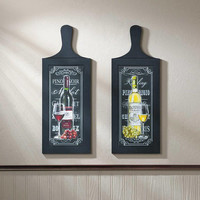 Red and White Wine Bottle Wooden Wall Art Hanging Décor Set