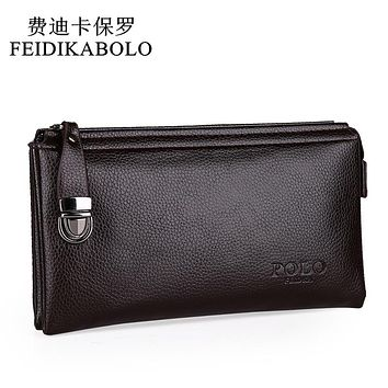 New Designers  Leather Purses and handbags High quality Business Casual men clutch bag Wallet for men