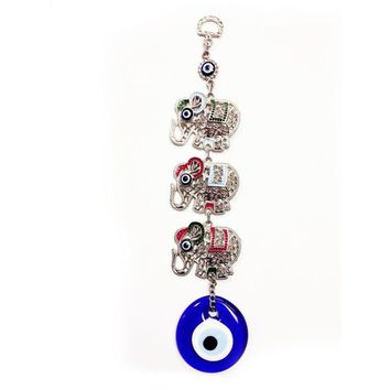 Three Elephants and Evil Eye Wall Art | Overstock.com Shopping - The Best Deals on Accent Pieces