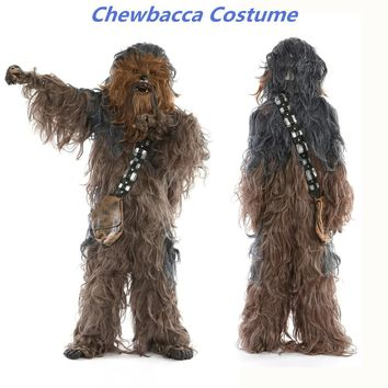 Star Wars Force Episode 1 2 3 4 5 Rubie's  Super Edition Adult Chewbacca Cosplay Party Costume AT_72_6
