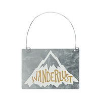 Wanderlust - Tin Ornament