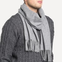 Rich Wool Scarf in Charcoal