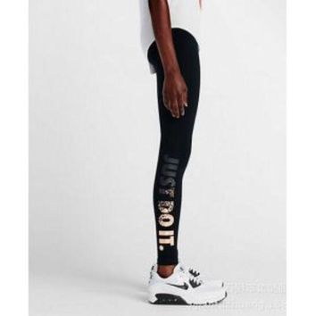 ONETOW NIKE LEG-A-SEE JUST DO IT METAL WOMEN RUNNING TIGHTS