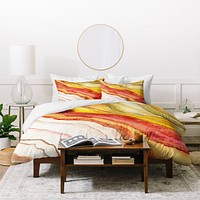 Viviana Gonzalez AGATE Inspired Watercolor Abstract 03 Duvet Cover