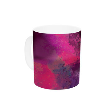 "Nina May ""Mineral Pink "" Purple Watercolor Ceramic Coffee Mug"