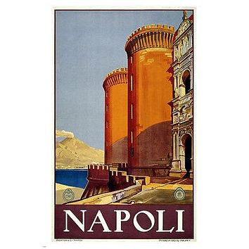 Napoli Italy Vintage Travel Poster CLASSIC ARCHITECTURE 24X36 exotic