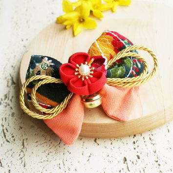 Plum Blossoms and Gold Bell Bow