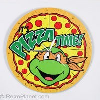 Teenage Mutant Ninja Turtles Clocks TMNT Pizza Clock RetroPlanet.com