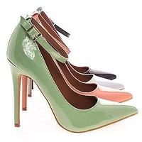 Leon By Shoe Republic, Women's High Heel Pump w/ Pointed Close Toe & Ankle Straps