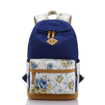 Hot Deal Back To School Casual On Sale Comfort College Stylish Floral Patchwork Fashion Bags Backpack [8384614919]