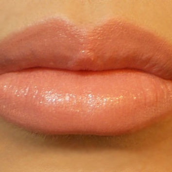 Vegan Mineral Lipstick - Soft Spoken (blush nude pink color) natural lip tint, balm, lip colour