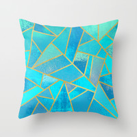 Summer Beach Throw Pillow by Elisabeth Fredriksson