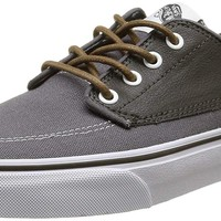 Vans Unisex Brigata Skate Shoes, Nautically Inspired Boat Shoe Classic, Comfortable and Durable in Original Waffle Outsole