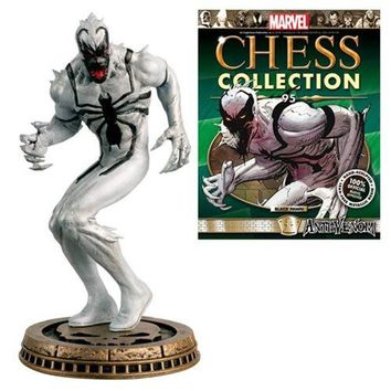 Marvel Amazing Spider-Man Anti-Venom Black Pawn Chess Piece with Magazine #95