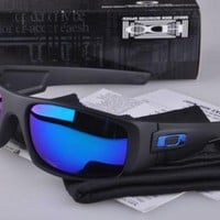 unglasses00Polarized!! Oakley₅Matte Black/Blue Mercury Lens