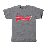 Illinois State Redbirds All-American Primary Tri-Blend T-Shirt - Ash