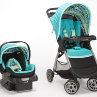 Safety 1st Amble Quad Travel System w/ onBoard 30 Car Seat (Rainbow Ice) TR324CYV
