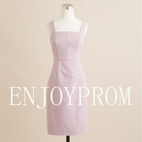 Sheath/Column Strap Taffeta  Knee-Length Bridesmaid/Evening/Prom Dress