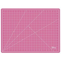 "US Art Supply 24"" x 36"" PINK/BLUE Professional Self Healing 5-Ply Double Sided Durable Non-Slip PVC Cutting Mat Great for Scrapbooking, Quilting, Sewing (Choose Green/Black or Pink/Blue Below)"