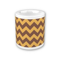 Chevron Beeswax Color And Coffee Brown Coffee Mugs from Zazzle.com