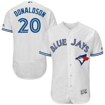 Men's Toronto Blue Jays Josh Donaldson Majestic Home White Flex Base Authentic Collection Player Jersey