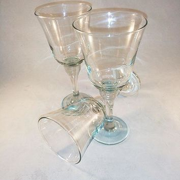 Hint Of Green Crystal Wine Glass/Goblets