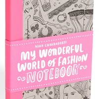 Nina Chakrabarti 'My Wonderful World of Fashion' Notebook (Girls) | Nordstrom