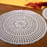 Handmade Crochet Doilies - Table Decor - Home and Wedding Table Decor - Oroshi Design