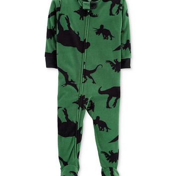 Carter's Baby Boys Dino-Print Footed Pajamas Kids - Pajamas - Macy's
