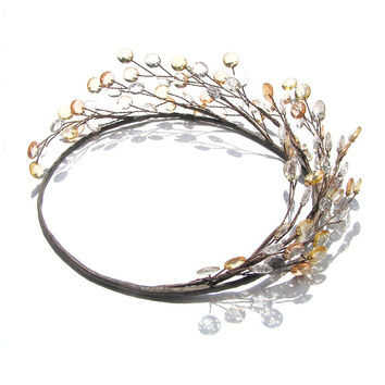 Circlet Tiara, Forest Wedding, Greek Wedding Crown, Rustic Woodland Wedding, Bridal Hair Vine, Country Wedding, Halo,