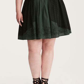 Harry Potter Potions Mesh Overlay Skirt