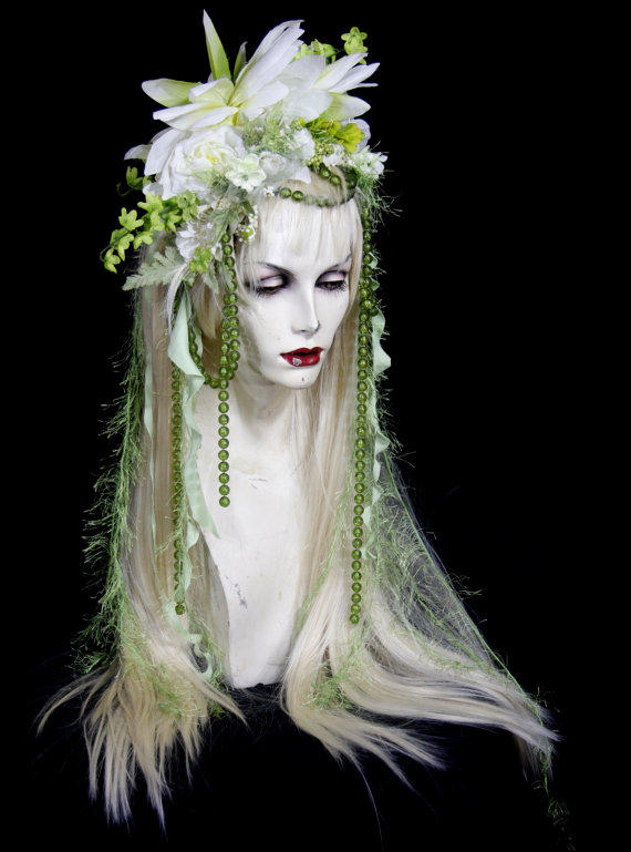Sale Green Fairy Full Wig Hair From Feralfairies On Etsy