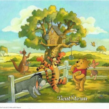 Licensed cool  DISNEY Store Winnie-the-Pooh Bear Friends SPECIAL EDITION LITHOGRAPH LITHO NEW