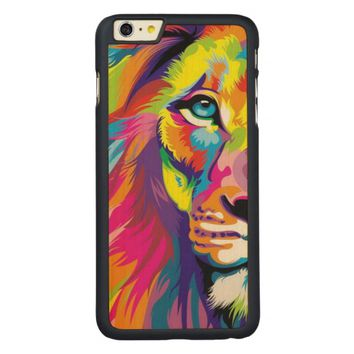 Colorful Lion Carved® Maple iPhone 6 Plus Slim Case