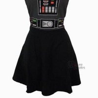 Star Wars Darth Vader Costume Fashion Tube Dress