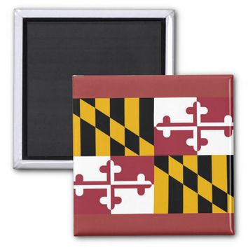 Magnet with Flag of Maryland State - USA