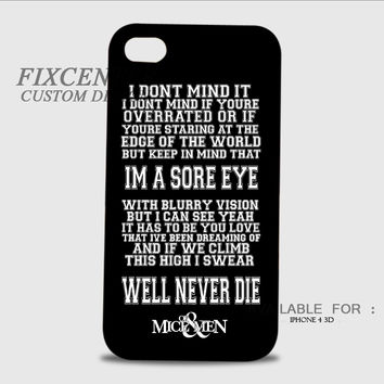 Of Mice and Men Austin Carlile Quotes 3D Image Cases for iPhone 4/4S, iPhone 5/5S, iPhone 5C, iPhone 6, iPhone 6 Plus, iPod 4, iPod 5, Samsung Galaxy (S3, S4, S5, S6) by FixCenters