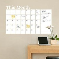 Dry Erase Wall Calendar with Memo Vinyl Wall by SimpleShapes