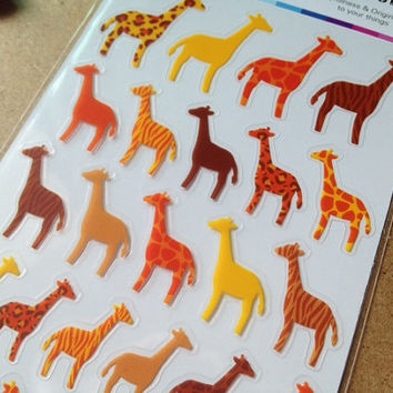 Giraffe Diary seal sticker Africa animal zoo cute pet kawaii animal lovely orange spots zebra pattern diy gift card iphone case scrapbooking