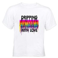 LGBT flag dripping with love.> Enjoy Life