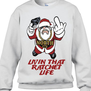 Santa Sweater, Funny Santa Ugly Christmas Sweater, Santa Ugly Sweater, Funny Christmas Sweater, Ugly Christmas Jumper, Cool Christmas Jumper