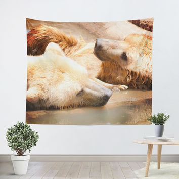 Two Bears Tapestry