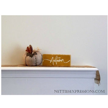 Autumn – Rustic Wood Sign