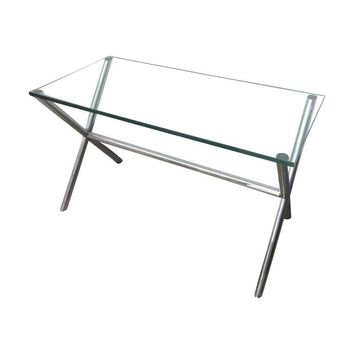 Pre-owned Pace Chrome & Glass Table