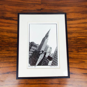 Original Signed Chaim Kanner Photograph ~ Empire State Building NY