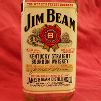 20 Ounce Pure Soy Candle in Reclaimed Jim Beam Liquor Bottle - Your Choice of Scent