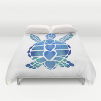 Sea Turtle Bedding, Turtle Love Blue , duvet or comforter, undersea, coastal decor, island style beach cottage, teen, ocean, bedroom