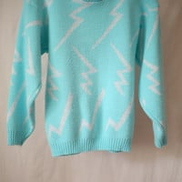 SALE It's Electric Lightning Bolt Sweater by SofaKingCoolVintage